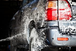 Washing Car - stormwater pollution