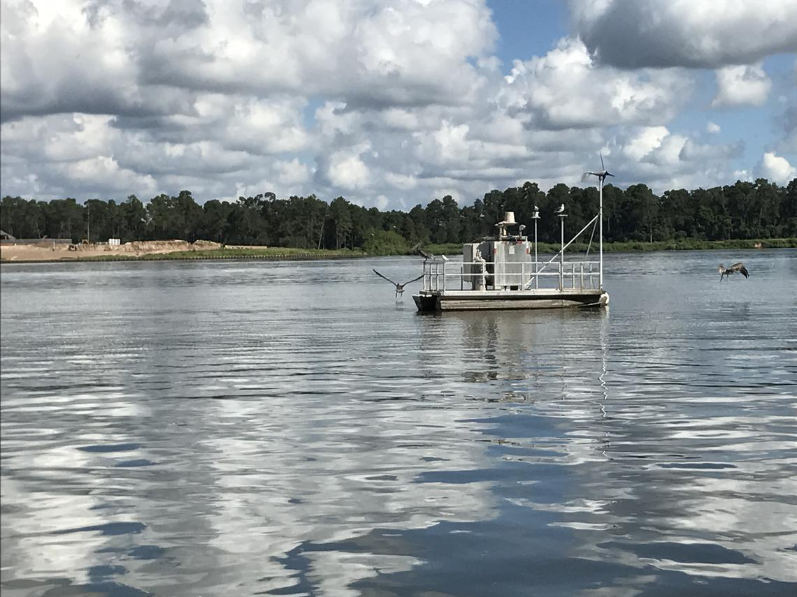 USGS real-time water quality monitoring platform on Lake Houston